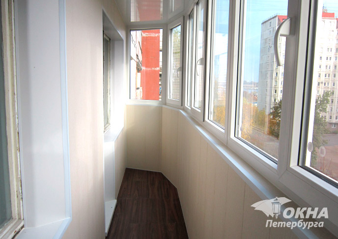 Внутренняя отделка балконов и лоджий под ключ: цены, фото.